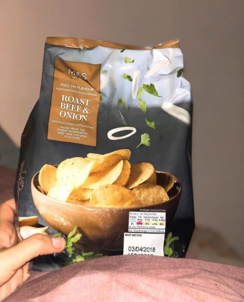 English potato chips
